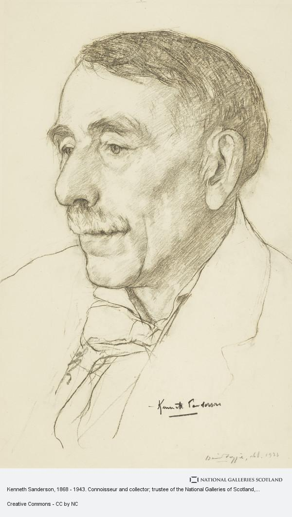 David Foggie, Kenneth Sanderson, 1868 - 1943. Connoisseur and collector; trustee of the National Galleries of Scotland