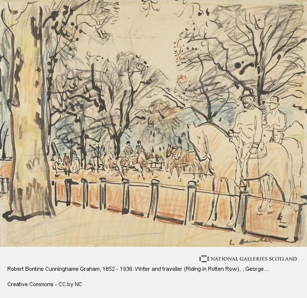George Leslie Hunter, Robert Bontine Cunninghame Graham, 1852 - 1936. Writer and traveller (Riding in Rotten Row)