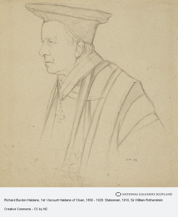 Sir William Rothenstein, Richard Burdon Haldane, 1st Viscount Haldane of Cloan, 1856 - 1928. Statesman