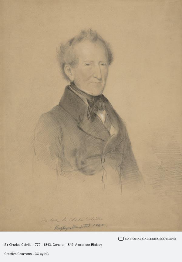Alexander Blaikley, Sir Charles Colville, 1770 - 1843. General
