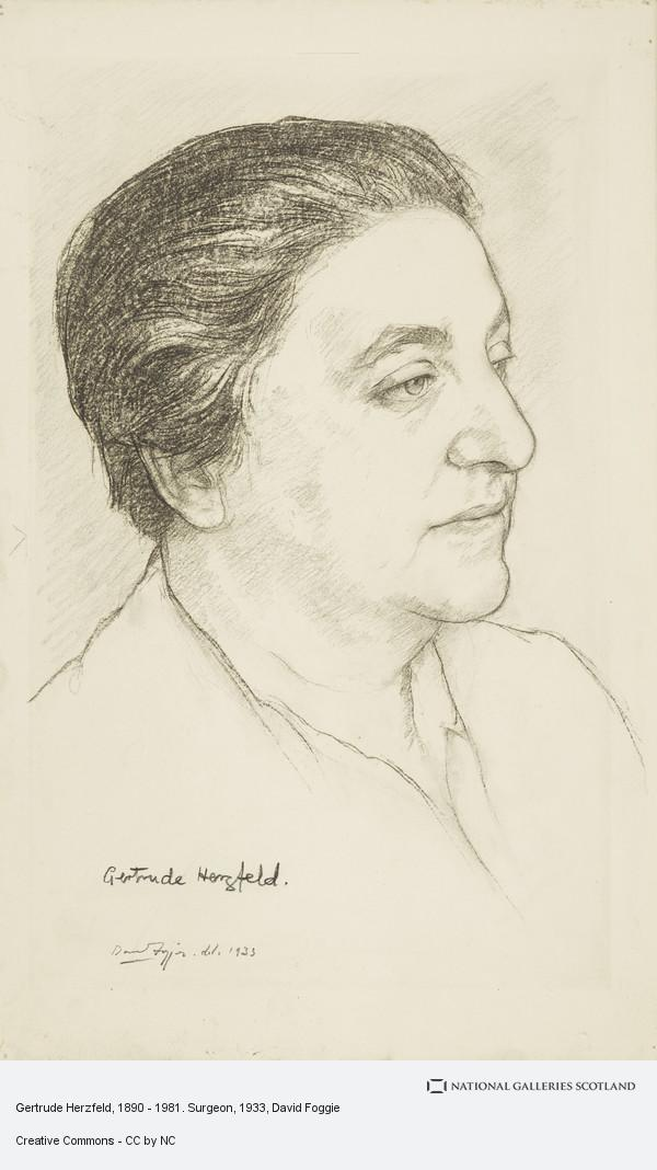 David Foggie, Gertrude Herzfeld, 1890 - 1981. Surgeon (1933)