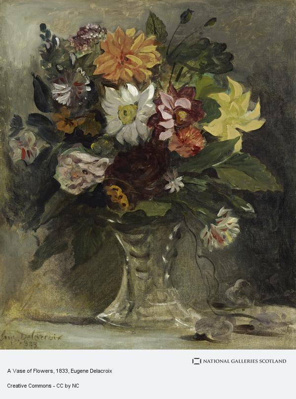 Eugene Delacroix, A Vase of Flowers
