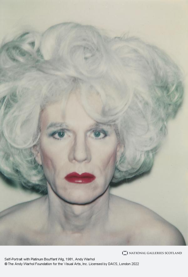 Andy Warhol, Self-Portrait with Platinum Bouffant Wig (1981)