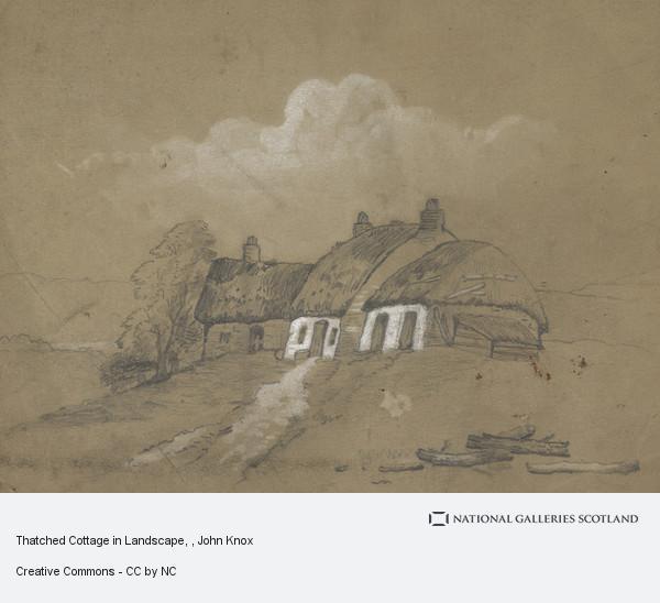 John Knox, Thatched Cottage in Landscape