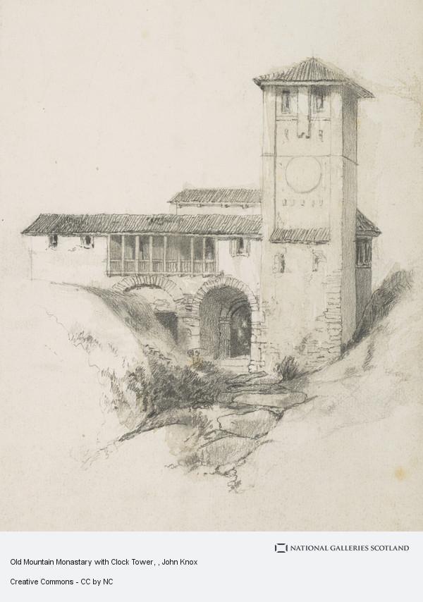 John Knox, Old Mountain Monastary with Clock Tower