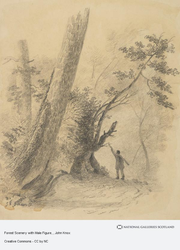 John Knox, Forest Scenery with Male Figure