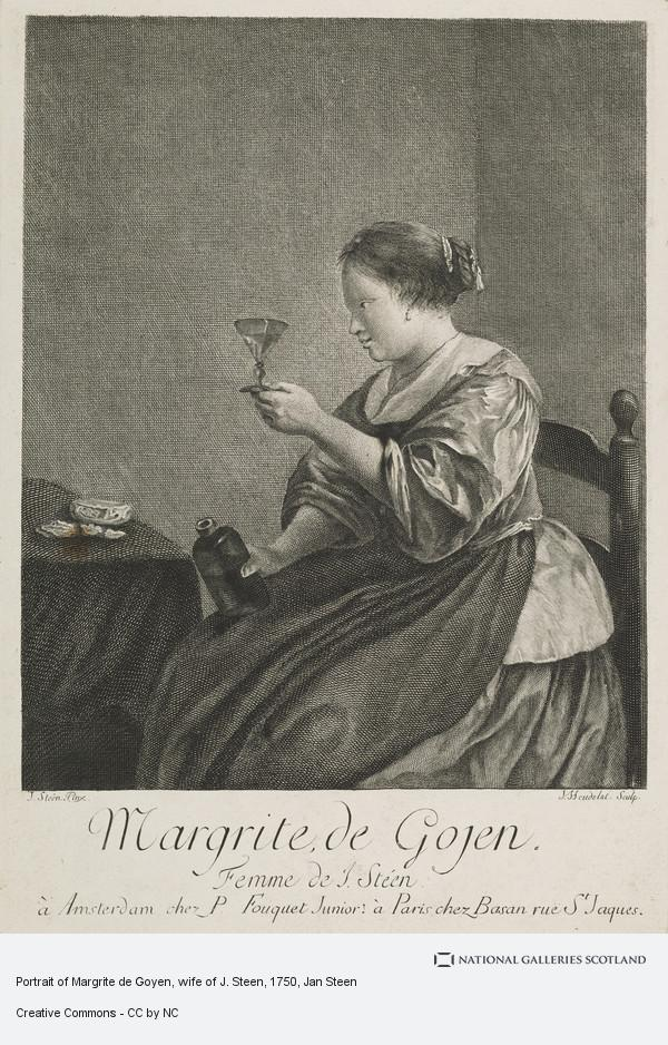 Jan Steen, Portrait of Margrite de Goyen, wife of J. Steen