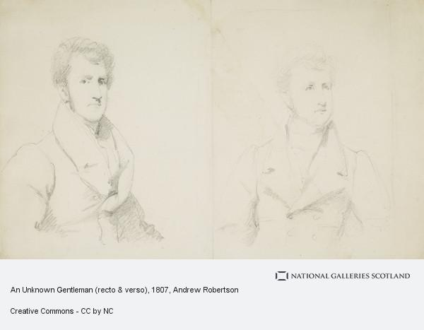 Andrew Robertson, An Unknown Gentleman (recto & verso)