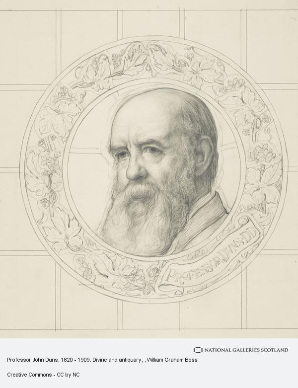 W. Graham Boss, Professor John Duns, 1820 - 1909. Divine and antiquary