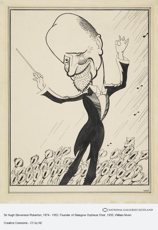 William Niven, Sir Hugh Stevenson Roberton, 1874 - 1952. Founder of Glasgow Orpheus Choir (about 1935)
