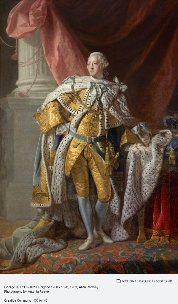 Allan Ramsay, George III, 1738 - 1820. Reigned 1760 - 1820 (About 1763)