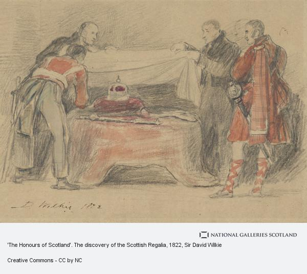 Sir David Wilkie, 'The Honours of Scotland'. The discovery of the Scottish Regalia (1822)