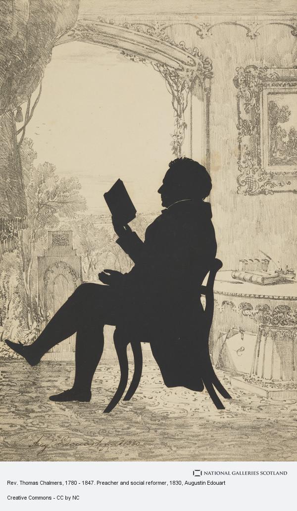 Augustin Edouart, Rev. Thomas Chalmers, 1780 - 1847. Preacher and social reformer