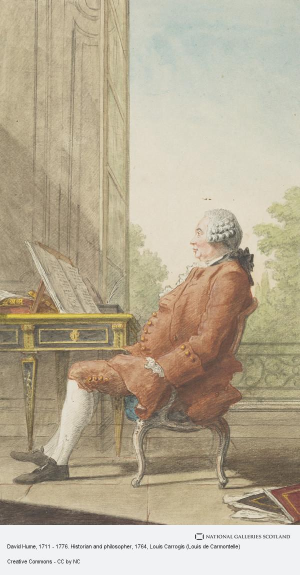 Louis Carrogis, David Hume, 1711 - 1776. Historian and philosopher