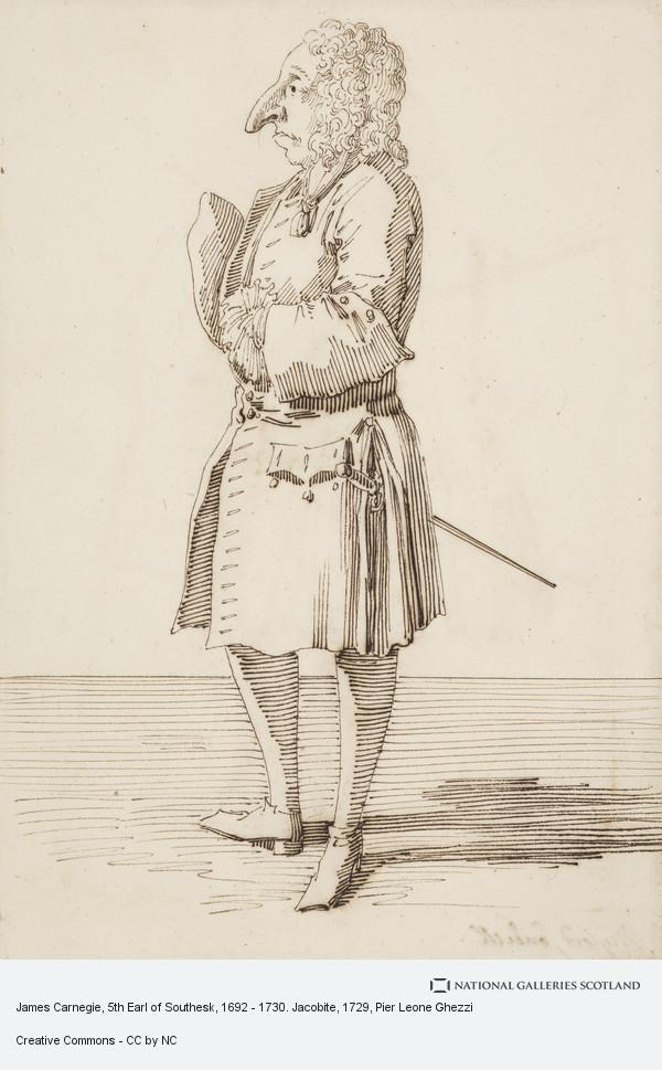Pier Leone Ghezzi, James Carnegie, 5th Earl of Southesk, 1692 - 1730. Jacobite