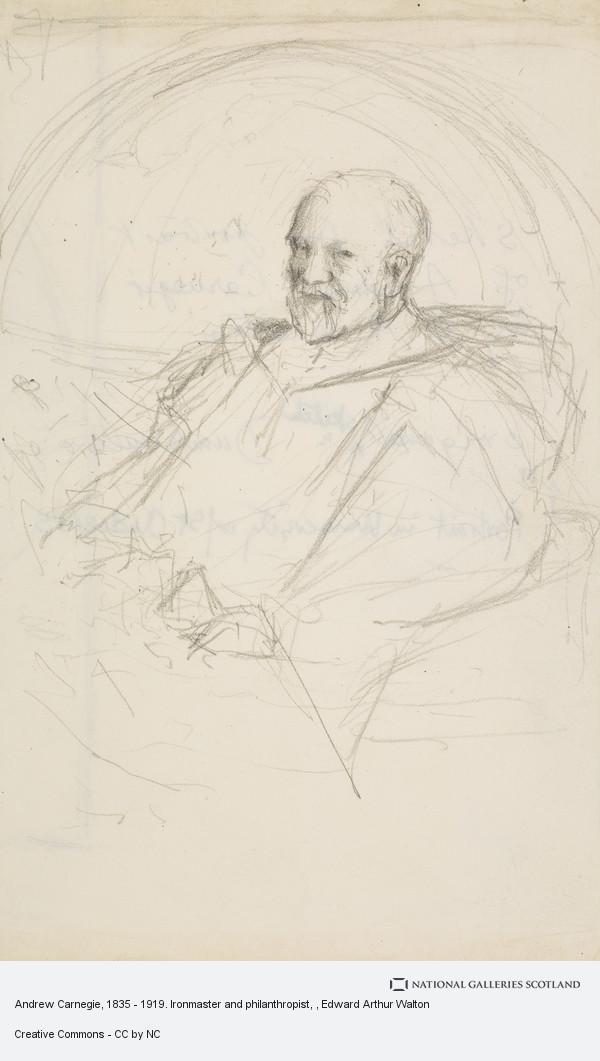 Edward Arthur Walton, Andrew Carnegie, 1835 - 1919. Ironmaster and philanthropist