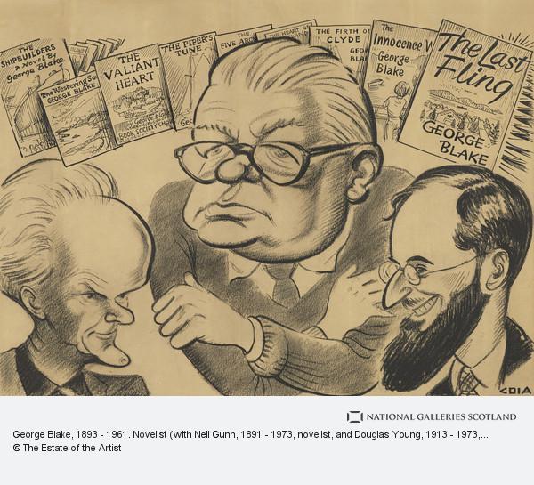 Emilio Coia, George Blake, 1893 - 1961. Novelist (with Neil Gunn, 1891 - 1973, novelist, and Douglas Young, 1913 - 1973, poet)
