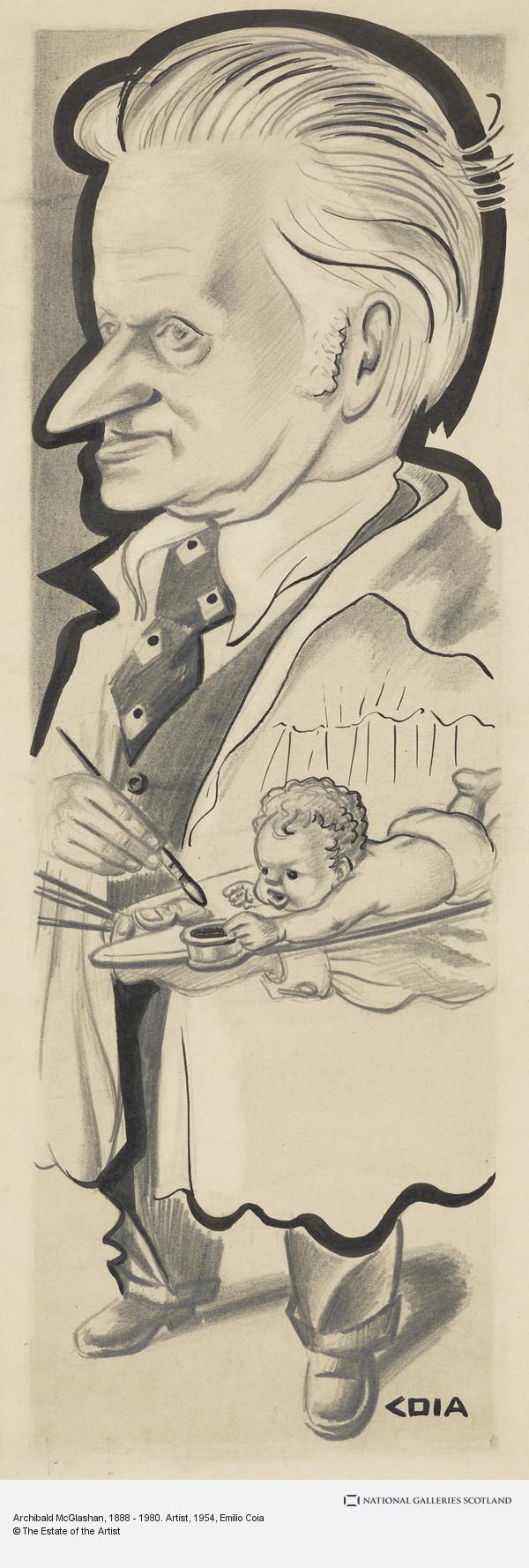 Emilio Coia, Archibald McGlashan, 1888 - 1980. Artist