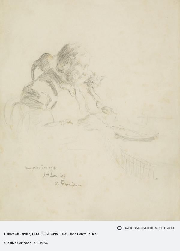 John Henry Lorimer, Robert Alexander, 1840 - 1923. Artist