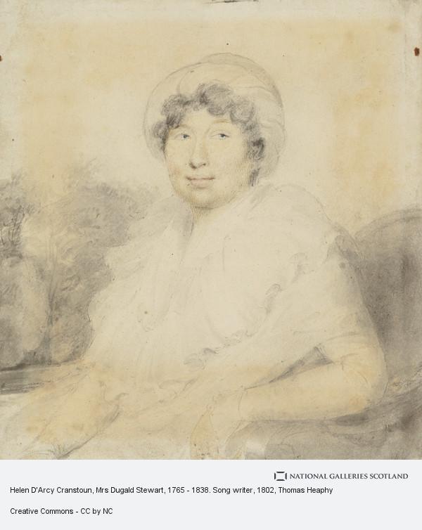Thomas Heaphy, Helen D'Arcy Cranstoun, Mrs Dugald Stewart, 1765 - 1838. Song writer