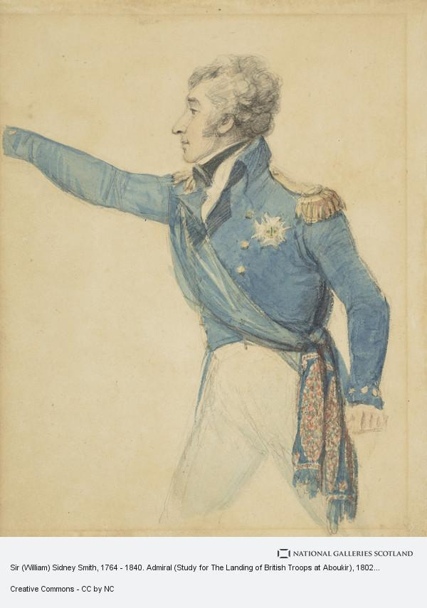 Philip James de Loutherbourg, Sir (William) Sidney Smith, 1764 - 1840. Admiral (Study for The Landing of British Troops at Aboukir)