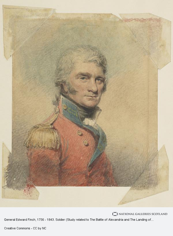 Philip James de Loutherbourg, General Edward Finch, 1756 - 1843. Soldier (Study related to The Battle of Alexandria and The Landing of British Troops at Aboukir)