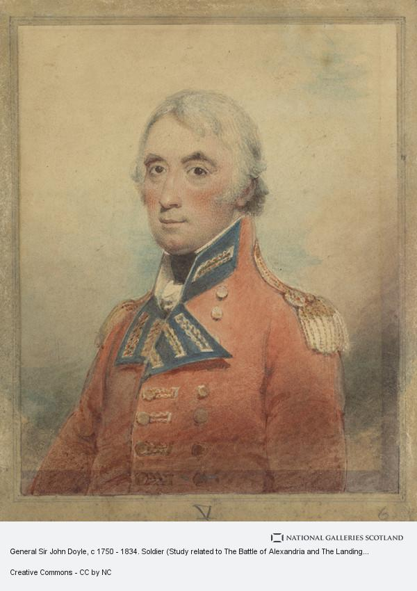 Philip James de Loutherbourg, General Sir John Doyle, c 1750 - 1834. Soldier (Study related to The Battle of Alexandria and The Landing of British Troops at Aboukir)