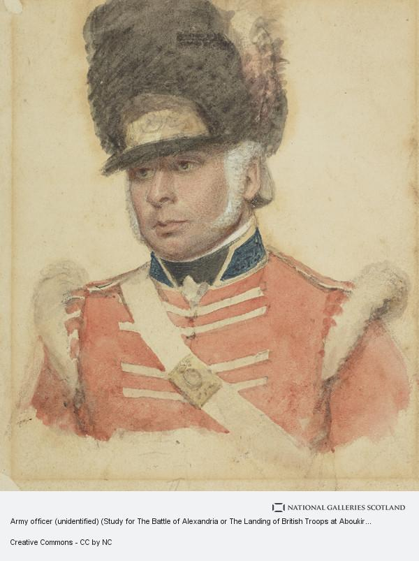 Philip James de Loutherbourg, Army officer (unidentified) (Study for The Battle of Alexandria or The Landing of British Troops at Aboukir)