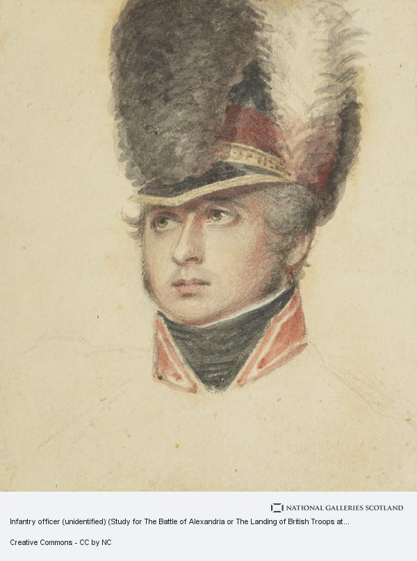 Philip James de Loutherbourg, Infantry officer (unidentified) (Study for The Battle of Alexandria or The Landing of British Troops at Aboukir)