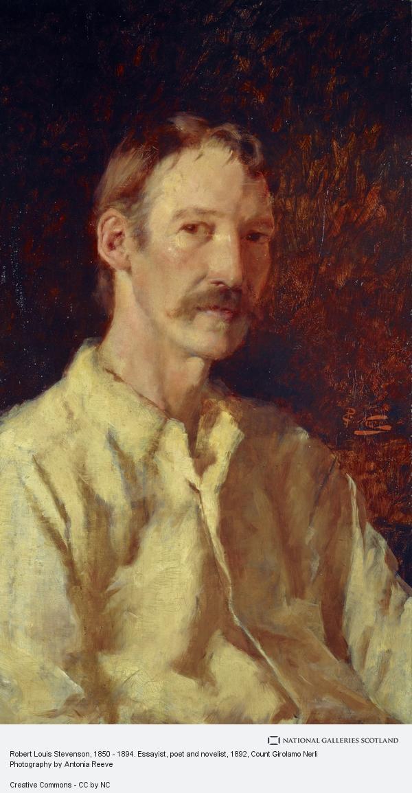 Count Girolamo Nerli, Robert Louis Stevenson, 1850 - 1894. Essayist, poet and novelist (1892)