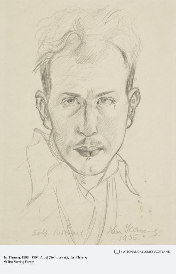 Ian Fleming, Ian Fleming, 1906 - 1994. Artist (Self-portrait)