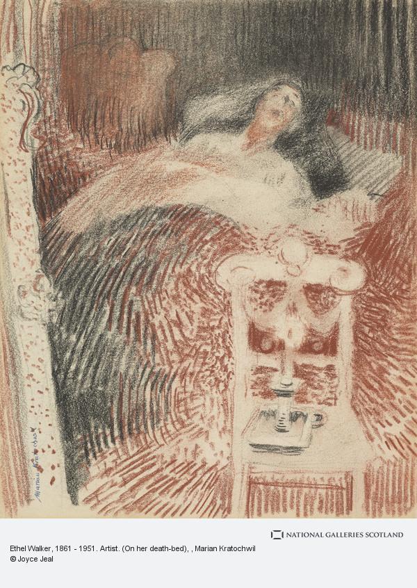 Marian Kratochwil, Ethel Walker, 1861 - 1951. Artist. (On her death-bed)