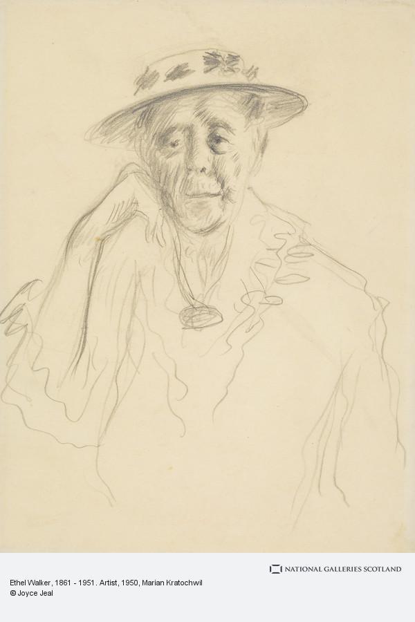 Marian Kratochwil, Ethel Walker, 1861 - 1951. Artist (About 1950)