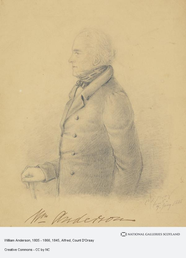 Alfred, Count D'Orsay, William Anderson, 1805 - 1866