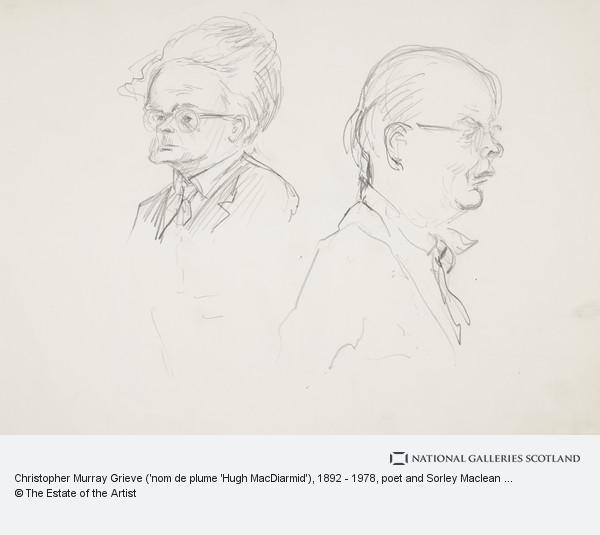 Emilio Coia, Christopher Murray Grieve ('nom de plume 'Hugh MacDiarmid'), 1892 - 1978, poet and Sorley Maclean (Somhairle MacGill-Eian), 1911 - 1996, poet