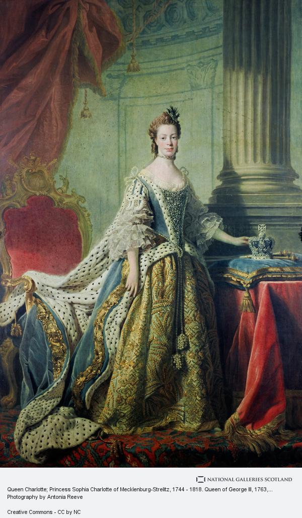 Allan Ramsay, Queen Charlotte; Princess Sophia Charlotte of Mecklenburg-Strelitz, 1744 - 1818. Queen of George III