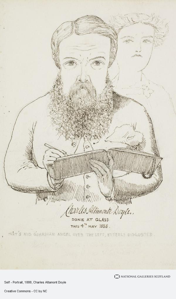 Charles Altamont Doyle, Self - Portrait (May 1848)