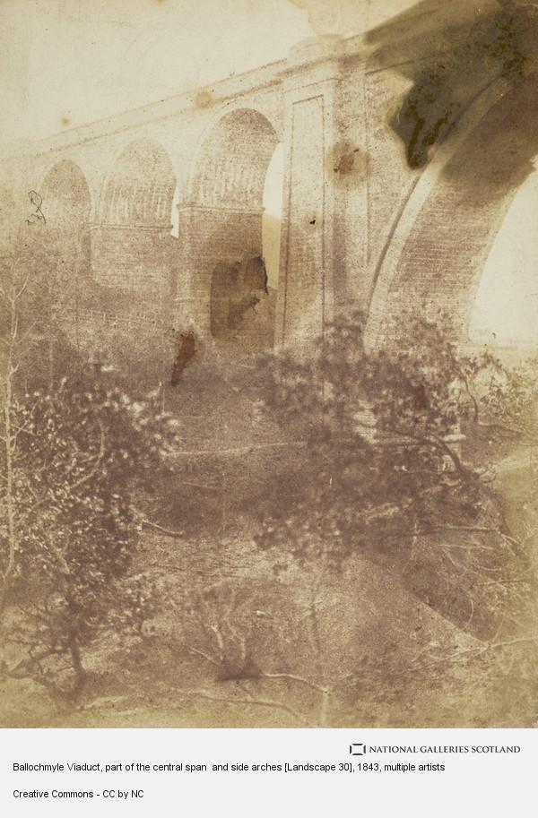 David Octavius Hill, Ballochmyle Viaduct, part of the central span  and side arches [Landscape 30]