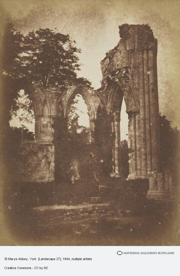 David Octavius Hill, St Marys Abbey, York  [Landscape 27]