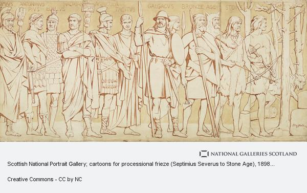 William Brassey Hole, Cartoon for processional frieze (Septimius Severus to Stone Age), Scottish National Portrait Gallery