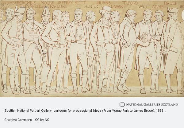 William Brassey Hole, Scottish National Portrait Gallery; cartoons for processional frieze (From Mungo Park to James Bruce) (Drawn about 1898)
