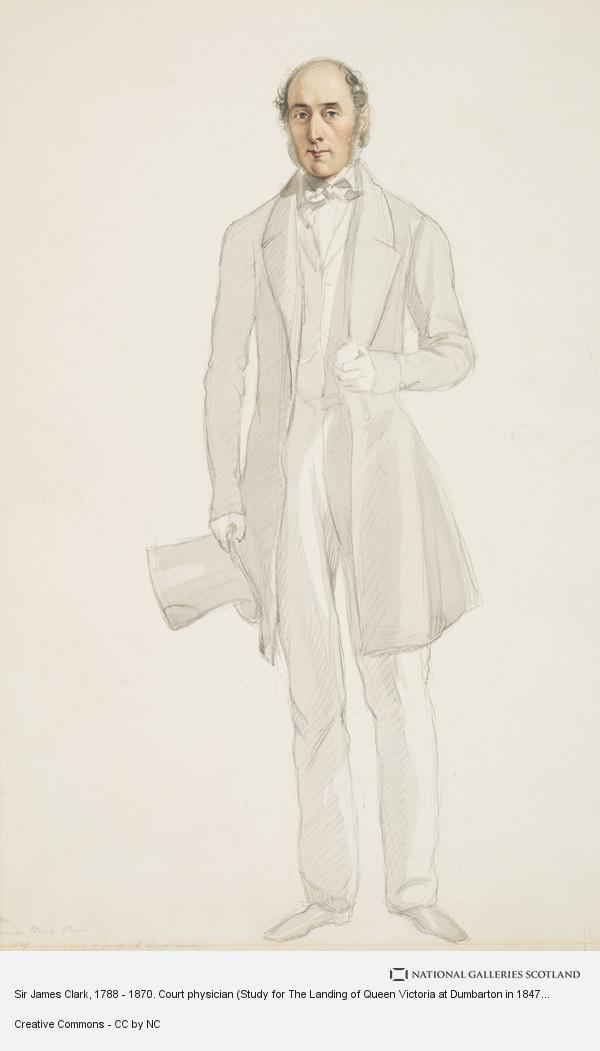 Hope James Stewart, Sir James Clark, 1788 - 1870. Court physician (Study for The Landing of Queen Victoria at Dumbarton in 1847)