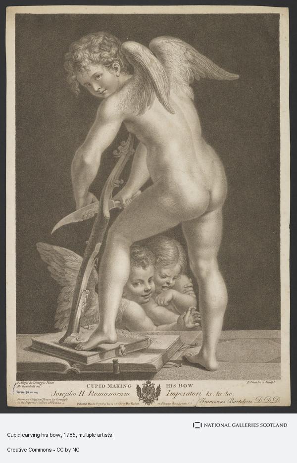 Francesco Bartolozzi, Cupid carving his bow