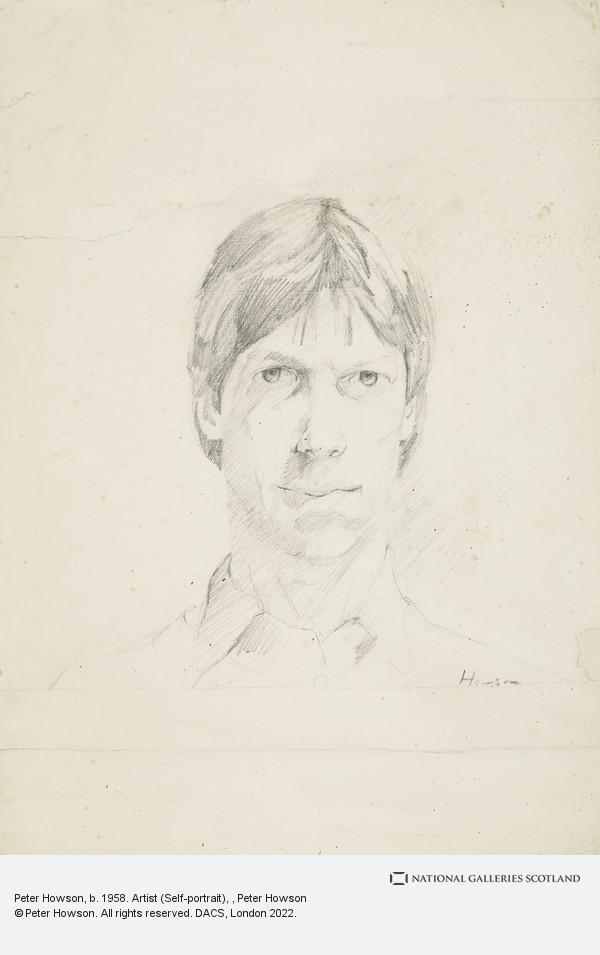 Peter Howson, Peter Howson, b. 1958. Artist (Self-portrait)