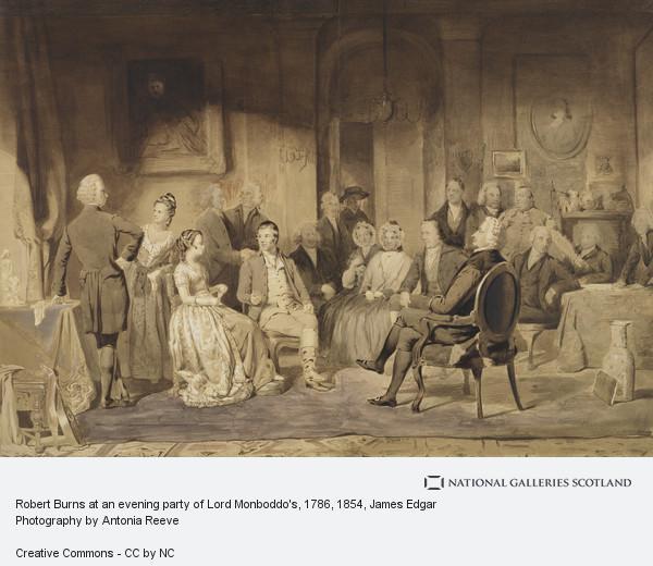 James Edgar, Robert Burns at an evening party of Lord Monboddo's, 1786 (Drawn about 1854)