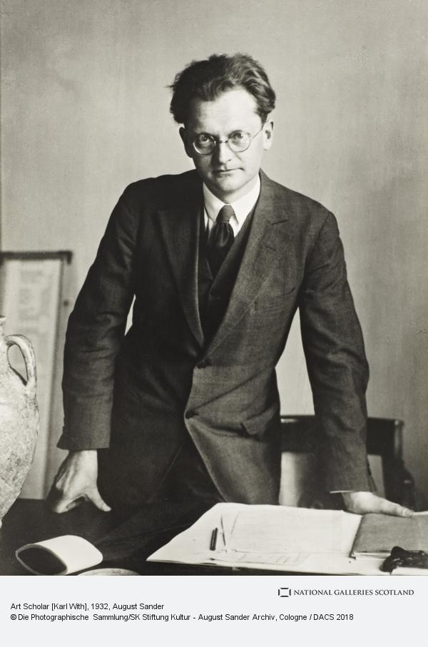 August Sander, Art Scholar [Karl With], 1932 (1932)