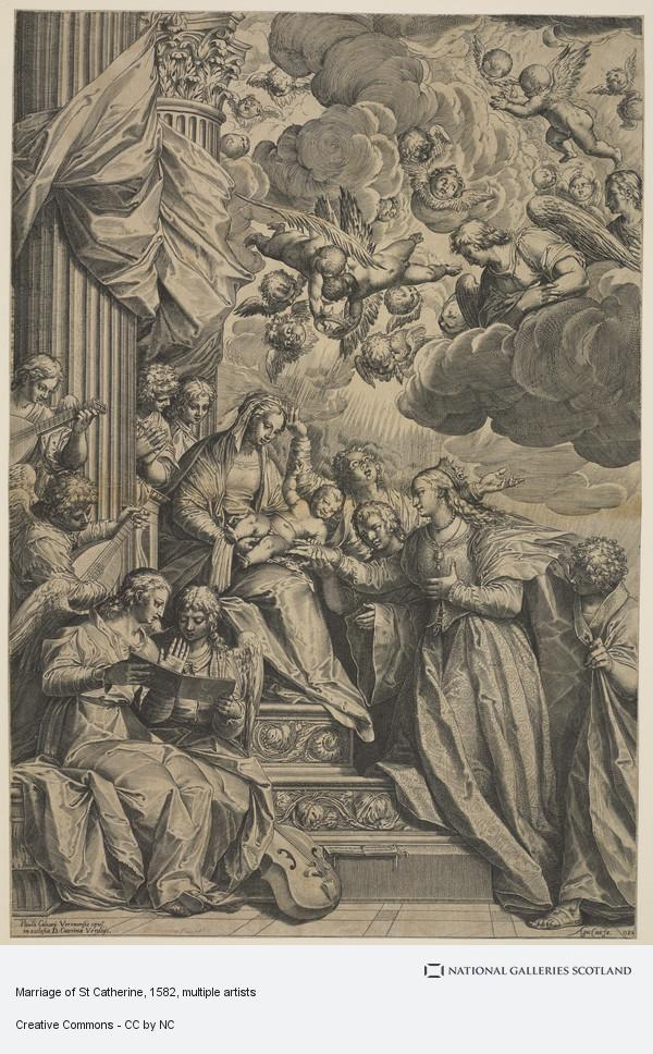 Agostino Carracci, Marriage of St Catherine