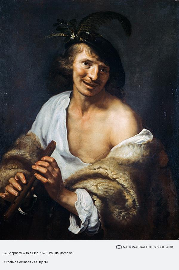 Paulus Moreelse, A Shepherd with a Pipe