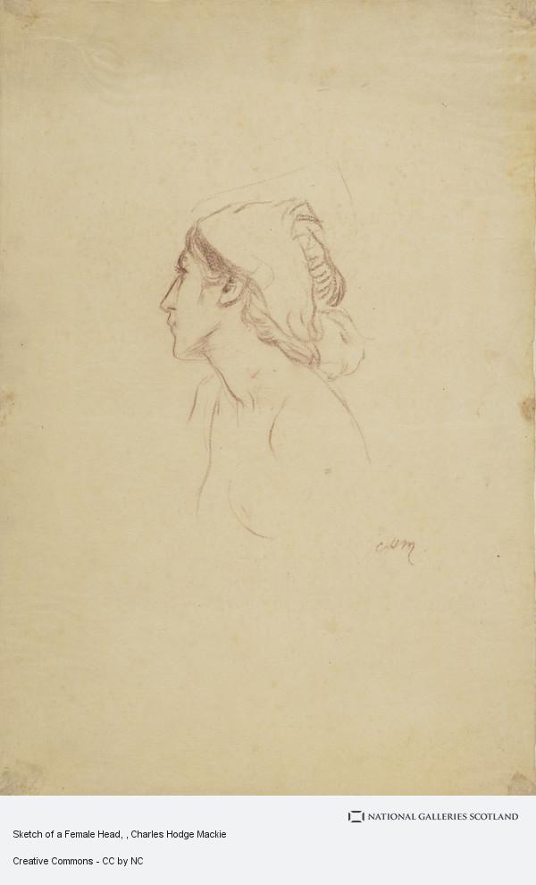 Charles Hodge Mackie, Sketch of a Female Head