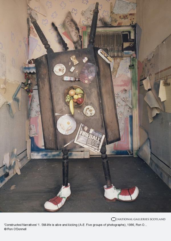 Ron O'Donnell, 'Constructed Narratives' 1. Still-life is alive and kicking (A-E. Five groups of photographs)